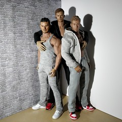 Threesome (Camler) Tags: tbleauge phicen m33 m35 m36a gay onesixthscale sneakers sportswear