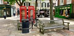 Richmond Green...Greater London. UK (standhisround) Tags: richmonduponthames greaterlondon london england uk bench benchmonday seats pub publichouse buildings telephoneboxes richmondgreen pavement hbm