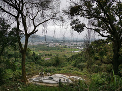 Tomb with a View (cowyeow) Tags: green landscape forest trees nature hongkong china chinese asia asian beautiful water hopui shekkong taimoshan view city vista composition tomb grave death dead rip peace peaceful