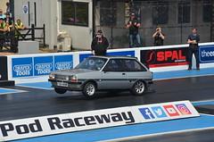 (Sam Tait) Tags: doorslammers santa pod raceway england ford fiesta mk1 turbo subaru wheelie wheels up