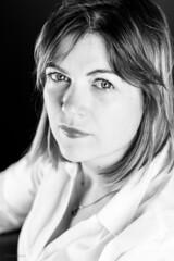 Karma Girl (sdupimages) Tags: femme portrait lighting studio face visage look looking regard beauty jolie woman monochrome bw nb