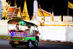 Asian lady in Tuk Tuk car drive and travel in Wat phra keaw (anekphoto) Tags: travel asia holiday tuk thailand bangkok tourist street city transport road tourism urban asian thai town vehicle drive taxi three trip tuktuk tour wat phra kaew palace grand temple emerald keaw religion buddhism pra night prakaew ancient stupa old vintage history capital royal worship pakaew prakeaw gold relax lady