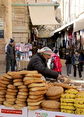 Street Vendor (oxfordblues84) Tags: israel jerusalemisrael jerusalem oat overseasadventuretravel walkingtour muslimquarter food streetvendor bagel bagels