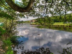 A Swing with a View across to Chatsworth House (little mester.) Tags: chatsworth chatsworthhouse chatsworthpark riverderwent spring2019 swing
