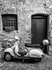Vespa - Lake Garda @ Limone (william_young81@yahoo.co.uk) Tags: vespa motorbike streetphotography blackandwhite blackandwhitephotography amateurphotographer italian italy lakegarda limone travelphotography travel huawiep20pro mobilephotography