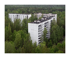 C O N C R E T E - J U N G L E - [CHERNOBYL ZONE] (Andrew Hocking Photography) Tags: pripyat chernobyl ghosttown urbex trees nature reclaimingtakingback appartment blocks cocrete woods forest green