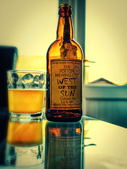 Glass of  West of the Sun ( Golden Ale) Potton Brewery (Cross Process Effect) (High Res Shot) (Panasonic S1 & Lumix S 24-105mm f4 Zoom) (markdbaynham) Tags: beer birra ale bottle goldenale cerveza craftbeer glass 24105mm 24105mmf4 lumix lumixer panasonic panasoniclumix s1 lumixs1 dmc panasonics1 mirrorless fullframe ff fullframemirrorless mirrorlessfullframe panasonicfullframe panasonicff digitalfullframe 24mp evil csc pottonbrewery drink