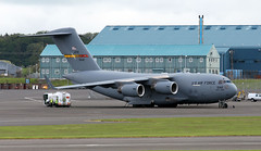 05-5142 (PrestwickAirportPhotography) Tags: egpk prestwick airport usaf united states air force boeing c17 globemaster 055142 march reserve command