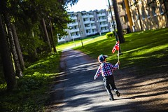 May 17th 2019 (Thomas Grotmol) Tags: canon beautifulcapture capture moment panoramic scenic dark shadow light lights beautiful running boy flag europe 2019 1814 norge mai may independenceday indepence norwegian may17th lambertseter norway oslo may17 17th