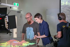 RESEARCH: Geological Sandbox with Christoph Schrank (QUT Science and Engineering Faculty) Tags: sef brisbane queensland australia science qut schoolofearthenvironmentalandbiologicalsciences eebs geology christophschrank leeconstable scope channel ten tv