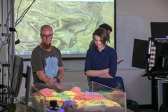 RESEARCH: Geological Sandbox with Christoph Schrank (QUT Science and Engineering Faculty) Tags: sef science qut brisbane queensland australia schoolofearthenvironmentalandbiologicalsciences eebs geology christophschrank leeconstable scope channel ten tv