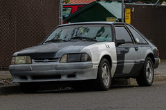 1990 Ford Mustang LX 2.3L (mlokren) Tags: 2019 car spotting 1990 ford motor company fomoco motorcraft mustang lx 23 23l i4 4cylinder black white gray fox body