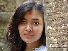 2015-04c Nepal 2019 (15a) (Matt Hahnewald) Tags: matthahnewaldphotography facingtheworld people head face forehead tika tilaka eyes catchlights beautifuleyes lips expression lookingatcamera smile hair consent emotion quality super concept living culture lifestyle love beauty style natural hindu temple photoshoot model gorkha durbar nepal nepali individual person female adult girl young woman women photo photography portraiture detail nikond610 nikkorafs85mmf18g 85mm 4x3ratio resized 1200x900pixels horizontal street portrait closeup headshot seveneighthsview outdoor naturallight colour posingcamera smiling beautiful casual pretty lovely soulful sensual fabulous