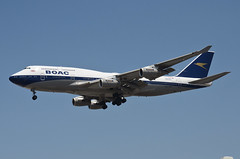 British Airways BOAC Retro Livery 747-436 (G-BYGC) LAX Approach 2 (hsckcwong) Tags: britishairways britishairwaysboacretrolivery boacretrolivery 747436 747400 747 gbygc lax klax