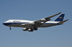 British Airways BOAC Retro Livery 747-436 (G-BYGC) LAX Approach 3 (hsckcwong) Tags: britishairways britishairwaysboacretrolivery boacretrolivery 747436 747400 747 gbygc lax klax