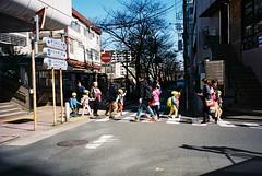 School time (homesickATLien) Tags: 35mm film art kodak analog expired mju olympus travel japan children daycare crossing tokyo
