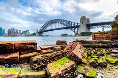 Sydney Harbour Bridge (600tom) Tags: iconic beautiful artistic moss rocks clouds water australia sunset dusk sydneyharbourbridge