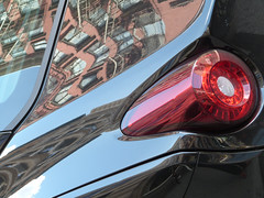 A17677 / ferrari on wooster (janeland) Tags: newyorkcity newyork 10012 soho woosterstreet ferrari car automobile abstract reflections may 2018 red taillight sooc