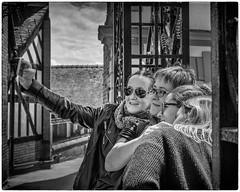 Selfie time in Chester (Linton Snapper) Tags: chester cheshire canon sigma2470mmf28art blackandwhite selfie lintonsnapper