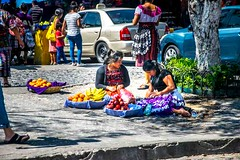 Selling (Tony Shertila) Tags: nikon5300 centralamerica cruise guatamala ship tourist worldcruise 201901251350500 laantigua city buildings architecture spanishbaroque street path road market people streetsellers guatemala