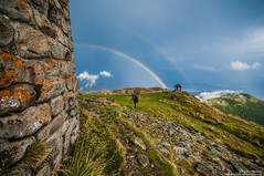 Double rainbow on top / Подвійна веселка на вершині (Kochum) Tags: nikon d90 sigma1020 1020 mountains wall rainbow natur nature sky carpathians природа карпаты карпати стена радуга веселка небо горы