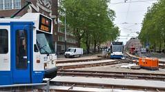 Na U..? (Peter ( phonepics only) Eijkman) Tags: amsterdam city combino trapkar bn gvb roadworks wegwerkzaamheden tram transport trams tramtracks trolley rail rails strassenbahn streetcars nederland netherlands nederlandse noordholland holland