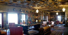 The Library of William Randolph Hearst. (█ Slices of Light █▀ ▀ ▀) Tags: library casa grande second 2nd floor ceiling spanish 16th century antique greek vases william randolph hearst castillo castle 赫斯特 赫斯特城堡 san simeon california 加州 加利 福尼亞 usa sony rx1rm2 rx1rii rx1r ii m2 panorama stitched arcsoft maker 5photosaday