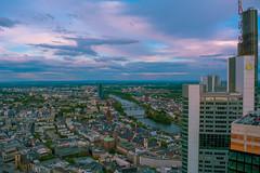 City View (nmkavvada) Tags: frankfurt germany sun sunset skyscaper blue bluecolor urban urbancity urbanphotography river rivermain mainriver main