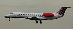 Embraer ERJ-135ER: G-SAJU Loganair Newcastle Airport (emdjt42) Tags: loganair newcastleairport embraer gsaju