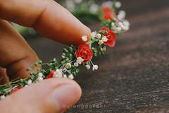 Handmade Miniature Flower Crown (Ylang Garden) Tags: handmade miniature flowers blythe momoko