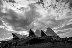 DSC01338 (Damir Govorcin Photography) Tags: cloud formation over iconic sydney opera house blackwhite monochrome people wide angle clouds sky sony a7ii zeiss 1635mm