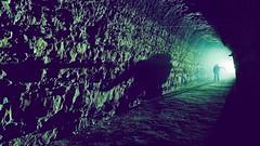 Smoky backlight (palateth) Tags: lightpainting lightart night nophotoshop singleexposure urbex abandonnedplace backlight tunnel underworld smoke