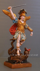 Statuina Arcangelo Michele (Orme Magiche) Tags: san michele arcangelo statuetta statuine santi drago statuina personalizzata statuinepersonalizzate caketopper modellini