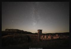 The Alwen Reservoir (Frightened Tree) Tags: night sky milky way astro astrophotography wales cymru reservoir alwen cronfa forest dam landscape stars betws y coed denbigh dwr brenig llyn cycling mtb betwsycoed llangollen bala