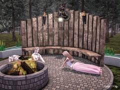 Our Yoga Class... (Tonny Rey) Tags: versusevent deco furniture garden clothing woman annasattic luxeparis