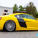 """Yellow Audi R8 stanced • <a style=""""font-size:0.8em;"""" href=""""http://www.flickr.com/photos/54523206@N03/40934628543/"""" target=""""_blank"""">View on Flickr</a>"""