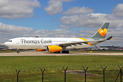 G-TCXB 2 Airbus A330-243 Thomas Cook Airlines UK MAN 21MAY19 (Ken Fielding) Tags: gtcxb airbus a330243 thomascookairlinesuk aircraft airplane airliner jet jetliner widebody