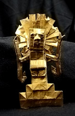 ORIGAMI - VIRACOCHA/ INCA GOD OF CREATION (Neelesh K) Tags: origami vircacocha inca god creation supreme boxpleating paperfolding neeleshk la paz bolivia