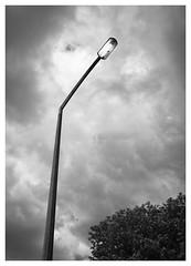 Streetlamp 2 (Dave Button) Tags: mono monochrome bw blackwhite streetlamp light acros grey gray fujifilm fuji 23mm border nottingham tones composition