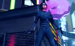 This town needs an enema! And possibly fewer giant doughnuts (beccaprender) Tags: haveunequal catwa catya bento maitreya lara limerence session ling poseidonposes catsuit villain cyberpunk fantasy cosplay roleplay