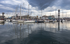 Port de Barcelona (kike.matas) Tags: canon canoneos6d canonef1635f28liiusm barcelona cataluña españa mediterraneo mar agua barcos nubes nublado reflejos puerto paisaje lightroom6