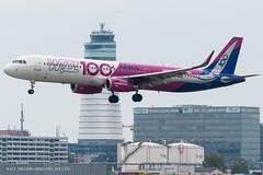A321_W62846 (MAD-VIE)_HA-LTD ('100' Livery) (VIE-Spotter) Tags: vie vienna airport flughafen wien flugzeug loww planespotting airplane