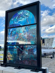 Glass of Thrones 5: White Walkers, SS Nomadic, Belfast (John D McDonald) Tags: iphone appleiphone iphonexr appleiphonexr belfast eastbelfast queensisland titanicquarter countydown codown down northernireland ni ulster geotagged glassofthrones gameofthrones stainedglasswindow stainedglass debrawenlock whitewalkers thewhitewalkers ssnomadic hamiltondock titanicbelfast queensroad