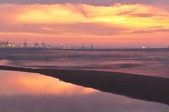 Colours of sunset (mmichalec) Tags: sunset evening colours colors sea beach water gdansk tricity poland polska zachod wieczór morze plaża fujifilm fujifilmxt20 long exposure