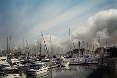 Moss Landing Harbor (waves_and_wonders) Tags: monterey bay blue nautical sea ocean coast coastal photography art fineart waves water beach sky nature clouds california central centralcoast mosslanding harbor boat seascape seascapes landscapes outdoors