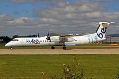G-ECOG Bombardier Dash 8Q-402 FlyBe Airlines MAN 21MAY19 (Ken Fielding) Tags: gecog bombardier dash8q402 flybeairlines aircraft airplane airliner jetprop turboprop regional commuter