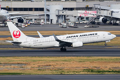 Japan Airlines Boeing 737-846 JA345J (Mark Harris photography) Tags: spotting plane haneda canon 5d aviation