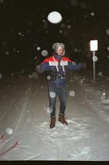 upright snow angel (Nsharp17) Tags: kodak kodakultramax kodakultramax200 ultramax ultramax200 35mm olympus olympusmju olympusmjui mju compactcamera analog