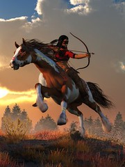 The Arrow of Rising Sun (deskridge) Tags: warrior nativeamerican indian brave western american bow arrow riding horseback archery archer painthorse indianpony charge charging horse mustang steed attack attacking bravery battlecry warcry navajo comanche sioux wildwest americanwest tonto geronimo sittingbull danieleskridge eskridge