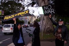 100_2799 (Haight Ashbury Neighborhood Peace Vigil) Tags: haight ashbury peace vigil iraq iran afghanistan syria venezuela war moratorium golden gate park panhandle san francisco may 2019